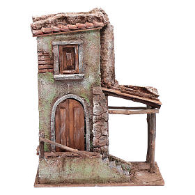 Settings, houses, workshops, wells: House with stairs 35x25x15 cm