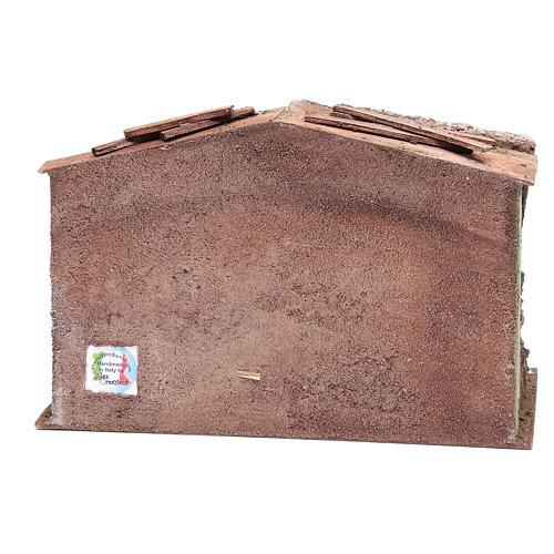 Stalla presepe con mangiatoia e fienile 18,5x29x14,5 cm 4