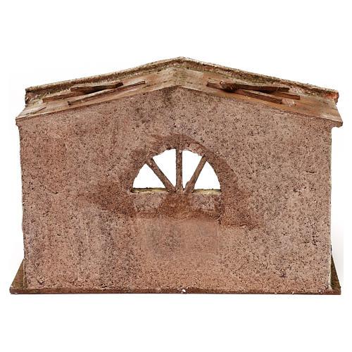 Stajnia z oknem łukowym 18x29x15 cm 4