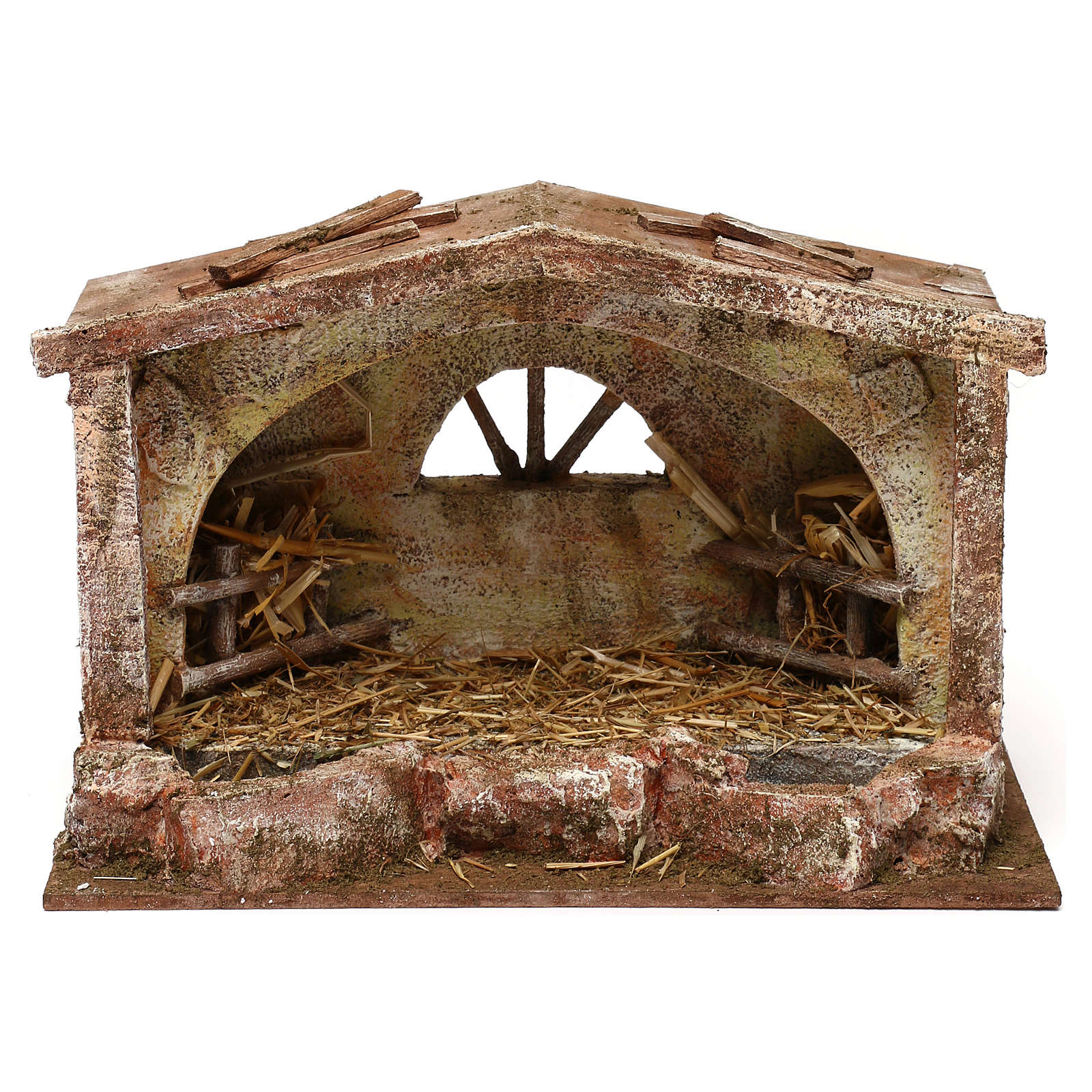 Stable with arched window 18x29x15 cm 4