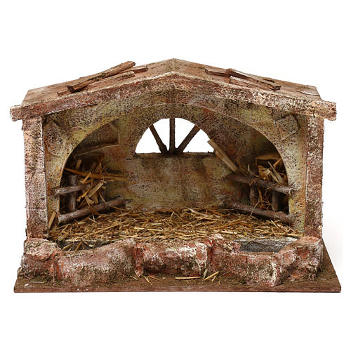 Stable with arched window 18x29x15 cm 1
