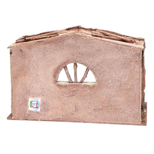 Étable crèche avec fenêtre voûtée 22,5x35x18 cm 4