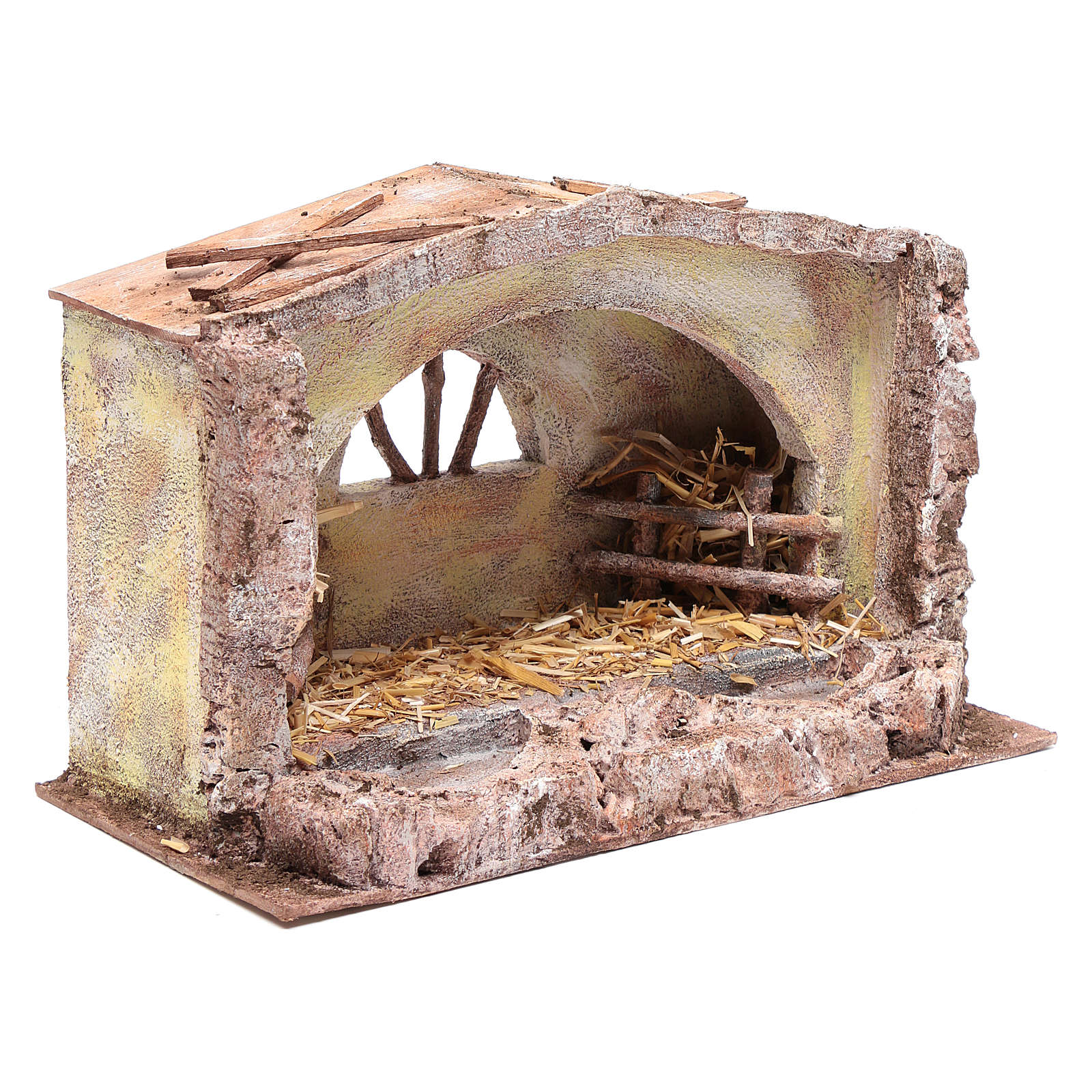 Stable with arched window 20x35x20 cm 4