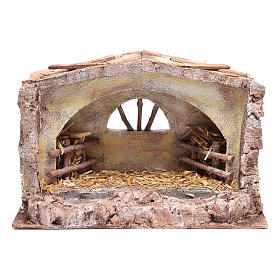 Stable with arched window 20x35x20 cm s1