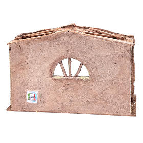 Stable with arched window 20x35x20 cm s4