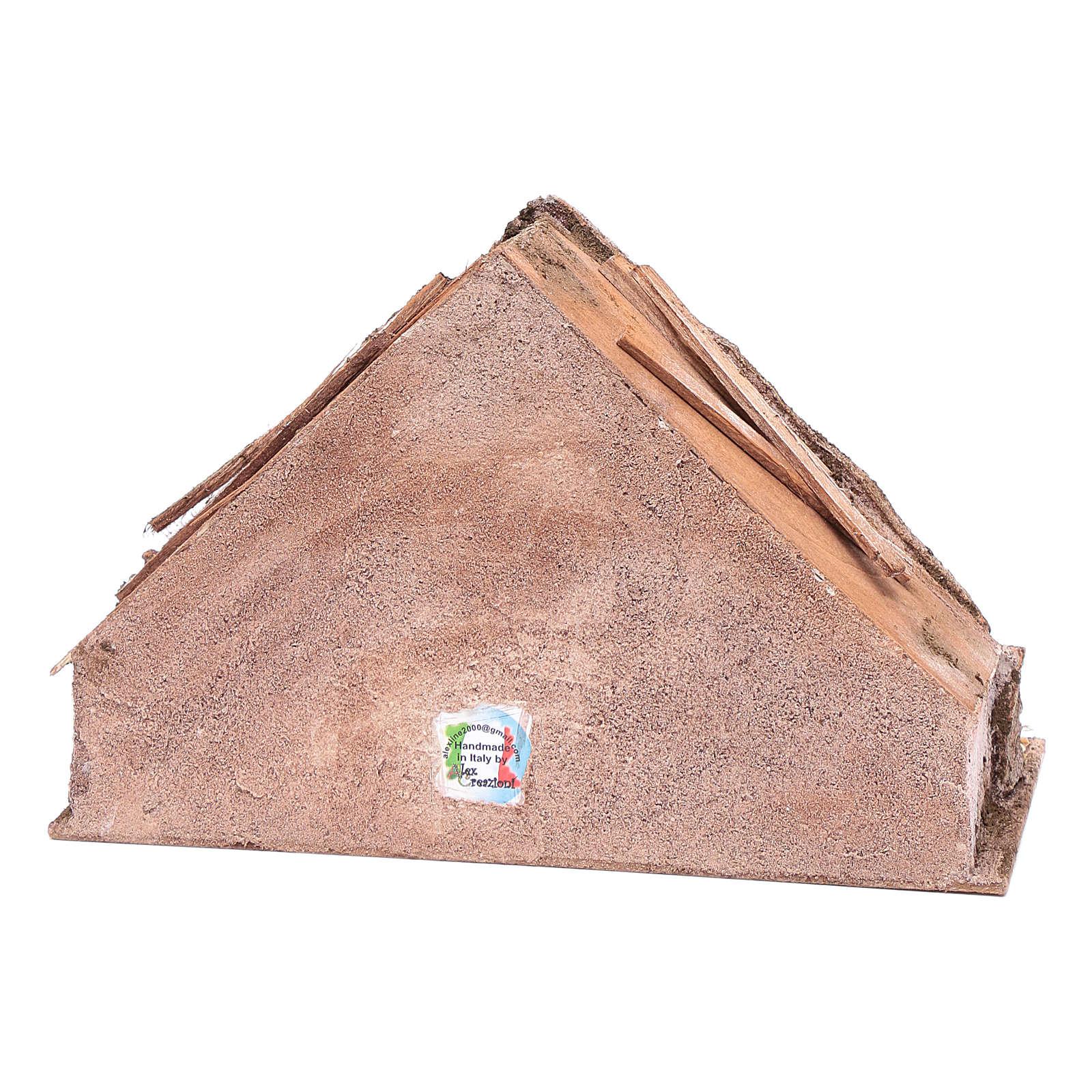 Capanna con mangiatoia in mezzo 20x30x15 cm 4
