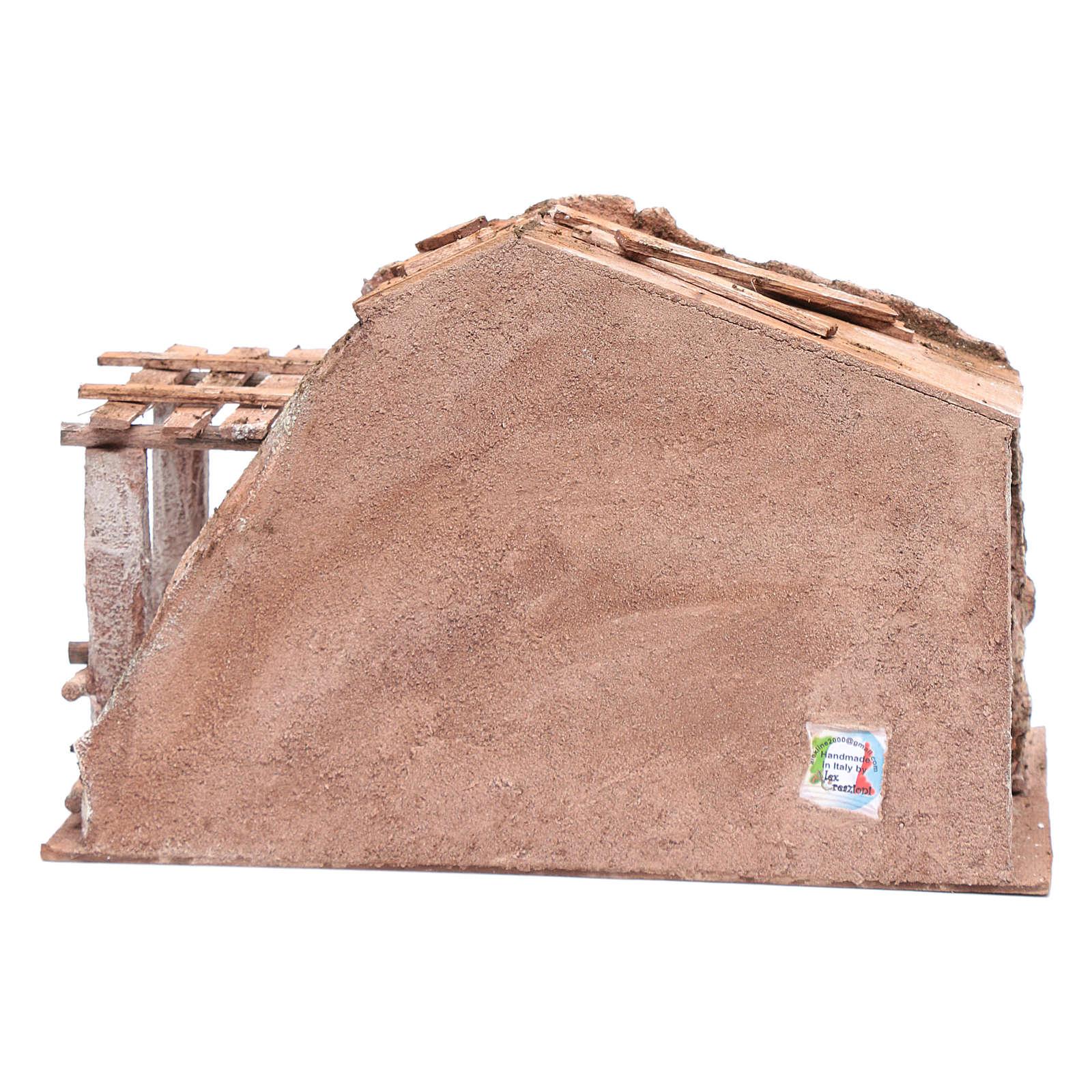 Stalla con fienile e recinto di animali 22,5x35x18,5 cm 4