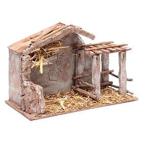 Stalla con fienile e recinto di animali 22,5x35x18,5 cm s3