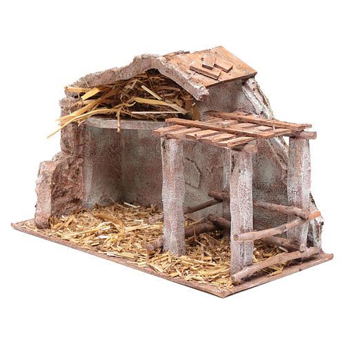 Stalla con fienile e recinto di animali 22,5x35x18,5 cm 2