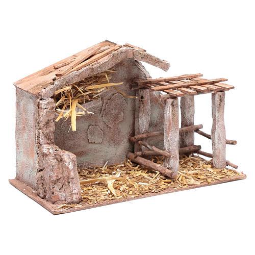 Stalla con fienile e recinto di animali 22,5x35x18,5 cm 3
