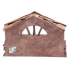 Capanna con finestra ad arco 20x30x15 cm per presepe s4