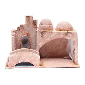 Capanna stile arabo con laghetto 18,5x29x15 presepe 10 cm s1