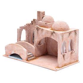 Capanna stile arabo con laghetto 18,5x29x15 presepe 10 cm s2