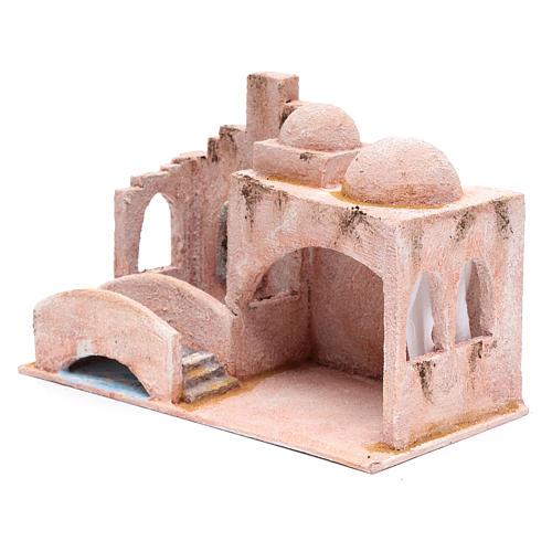 Capanna stile arabo con laghetto 18,5x29x15 presepe 10 cm 2