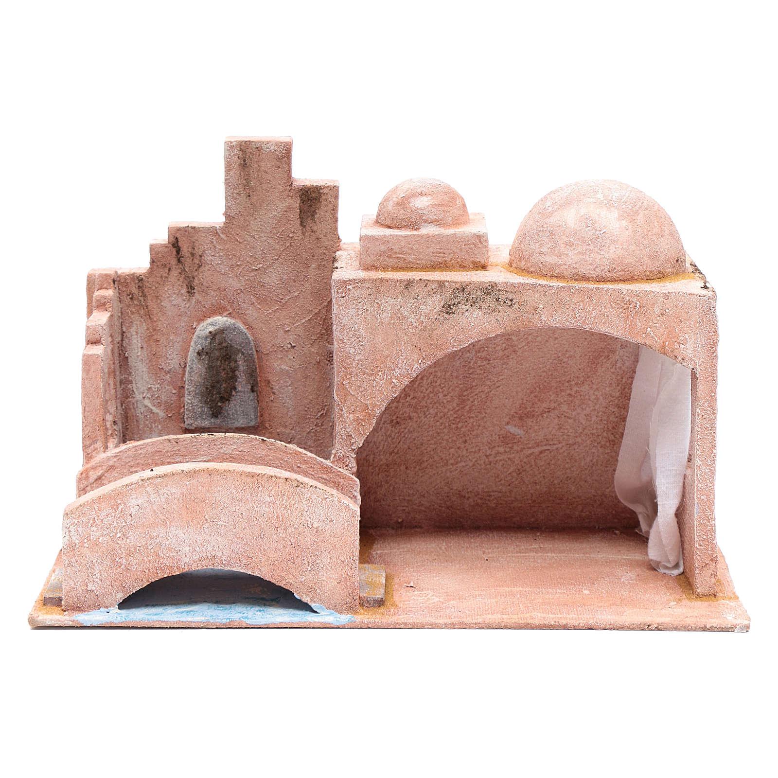 Cabaña de estilo árabe con estanque 20x35x20 cm 4