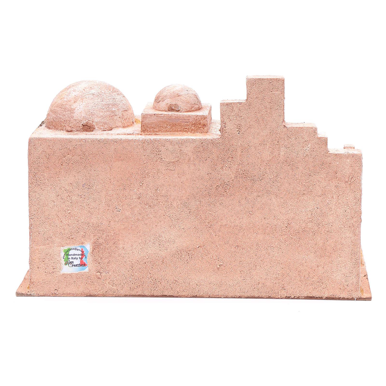 Cabane style arabe avec petit lac 22x35x18 cm 4