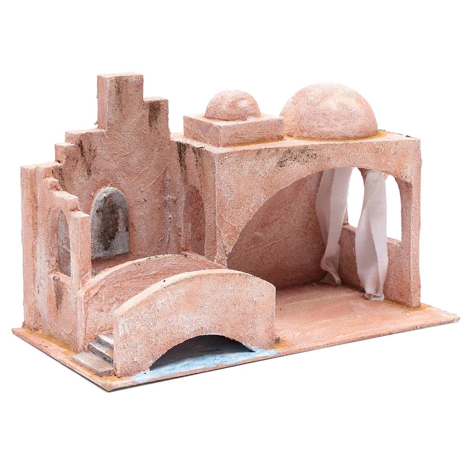 Capanna di stile arabo con laghetto 20x35x20 cm 4