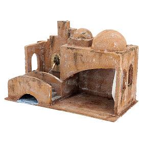 Capanna stile arabo con laghetto 20x35x20 presepe 12 cm s2