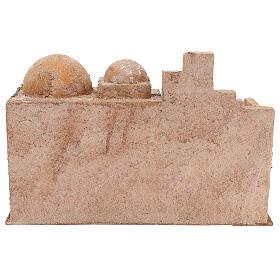 Capanna stile arabo con laghetto 20x35x20 presepe 12 cm s4