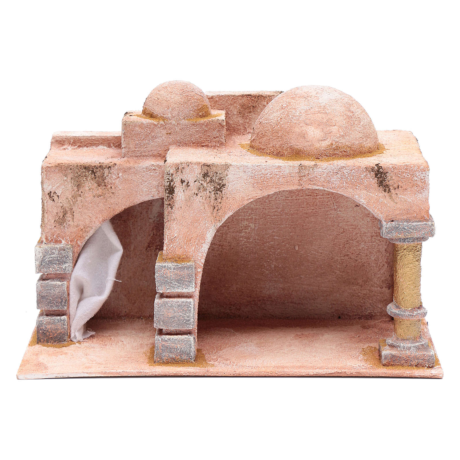 Arabian style hut with porch   19x29x14,5 cm for nativity scene 4