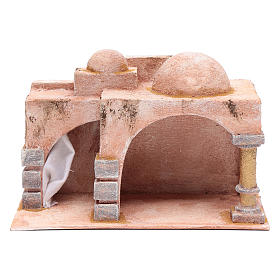 Arabian style hut with porch   19x29x14,5 cm for nativity scene s1