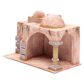 Arabian style hut with porch   19x29x14,5 cm for nativity scene s2