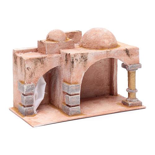 Capanna stile arabo porticato 19x29x14,5 cm presepe 3