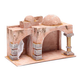 Arabian style hut with porch   19x29x14,5 cm for nativity scene s3