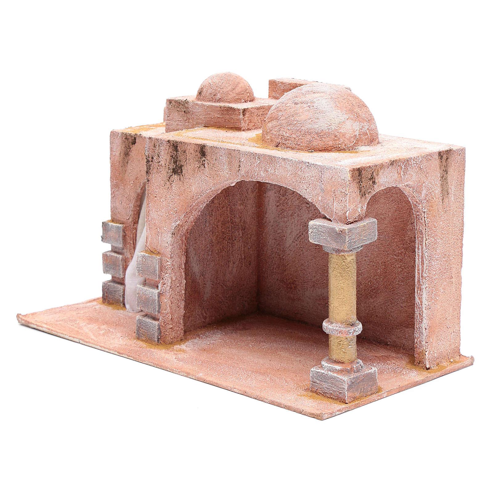 Cabaña de estilo árabe con porticado 20x35x20 cm 4