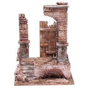 Temple avec colonnes en briques 25x20x15 cm s1