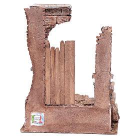 Temple avec colonnes en briques 25x20x15 cm s4