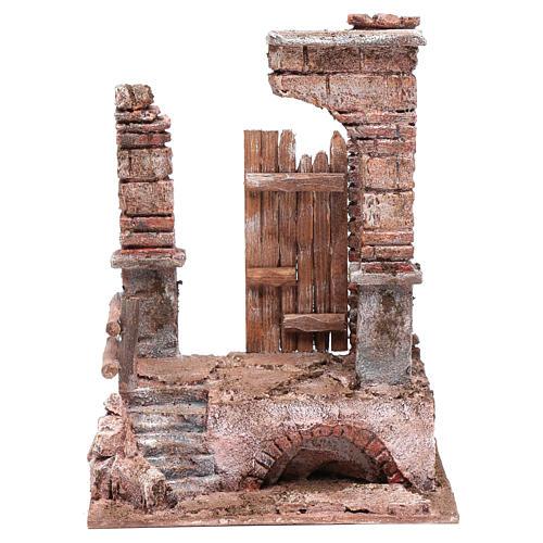 Temple avec colonnes en briques 25x20x15 cm 1