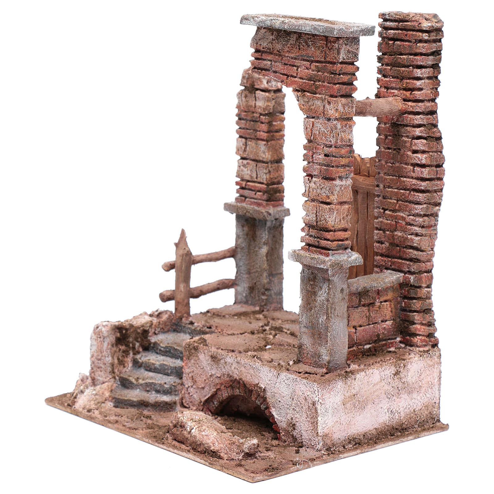 Temple colonnes en briques 30x25x20 cm 4