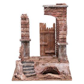 Temple colonnes en briques 30x25x20 cm s1
