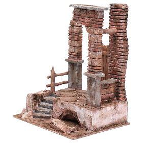 Temple colonnes en briques 30x25x20 cm s2