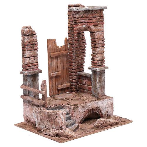 Temple colonnes en briques 30x25x20 cm 3