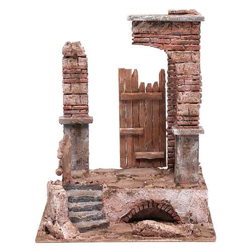 Temple with bricked columns 30x25x20 cm 1
