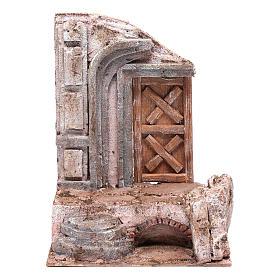Tempio porta legno 25x20x15 cm per presepe s1