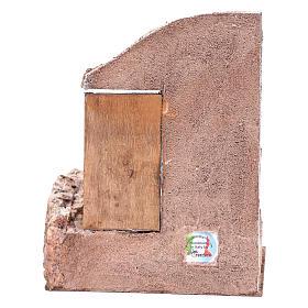 Tempio porta legno 25x20x15 cm per presepe s4