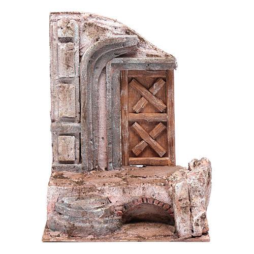 Tempio porta legno 25x20x15 cm per presepe 1