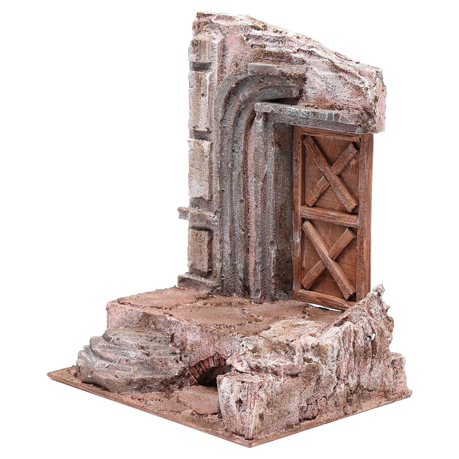 Tempio con porta in legno 29,5x24,5x18 cm 4