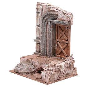 Tempio con porta in legno 29,5x24,5x18 cm s2