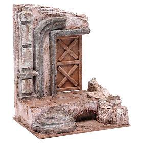 Tempio con porta in legno 29,5x24,5x18 cm s3