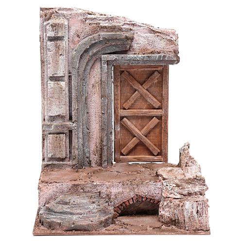 Tempio con porta in legno 29,5x24,5x18 cm 1