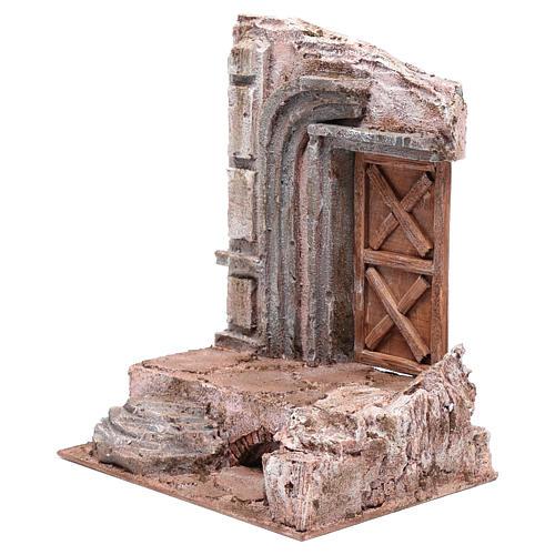 Tempio con porta in legno 29,5x24,5x18 cm 2