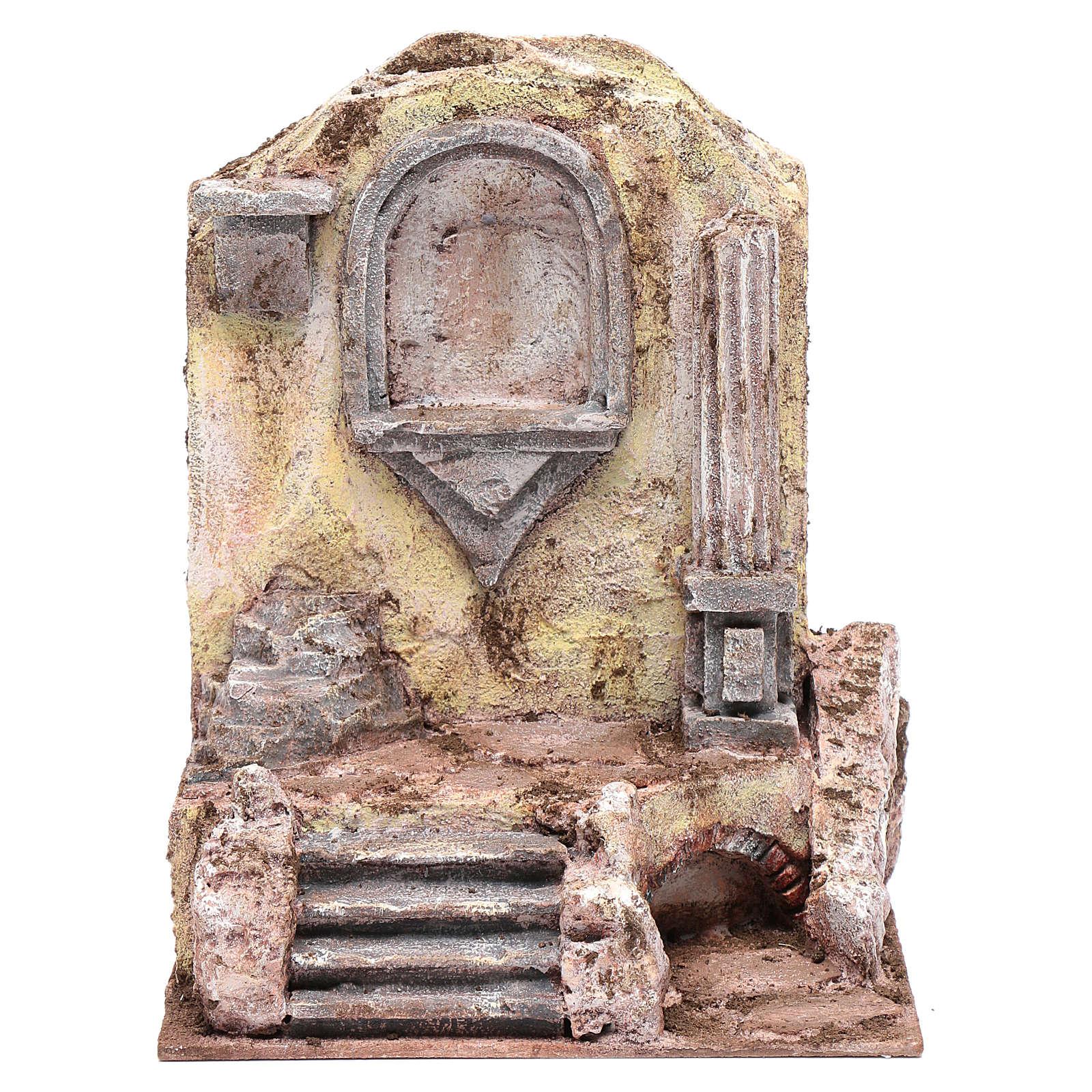 Ruines de temple et niche 25x19,5x14,5 cm 4