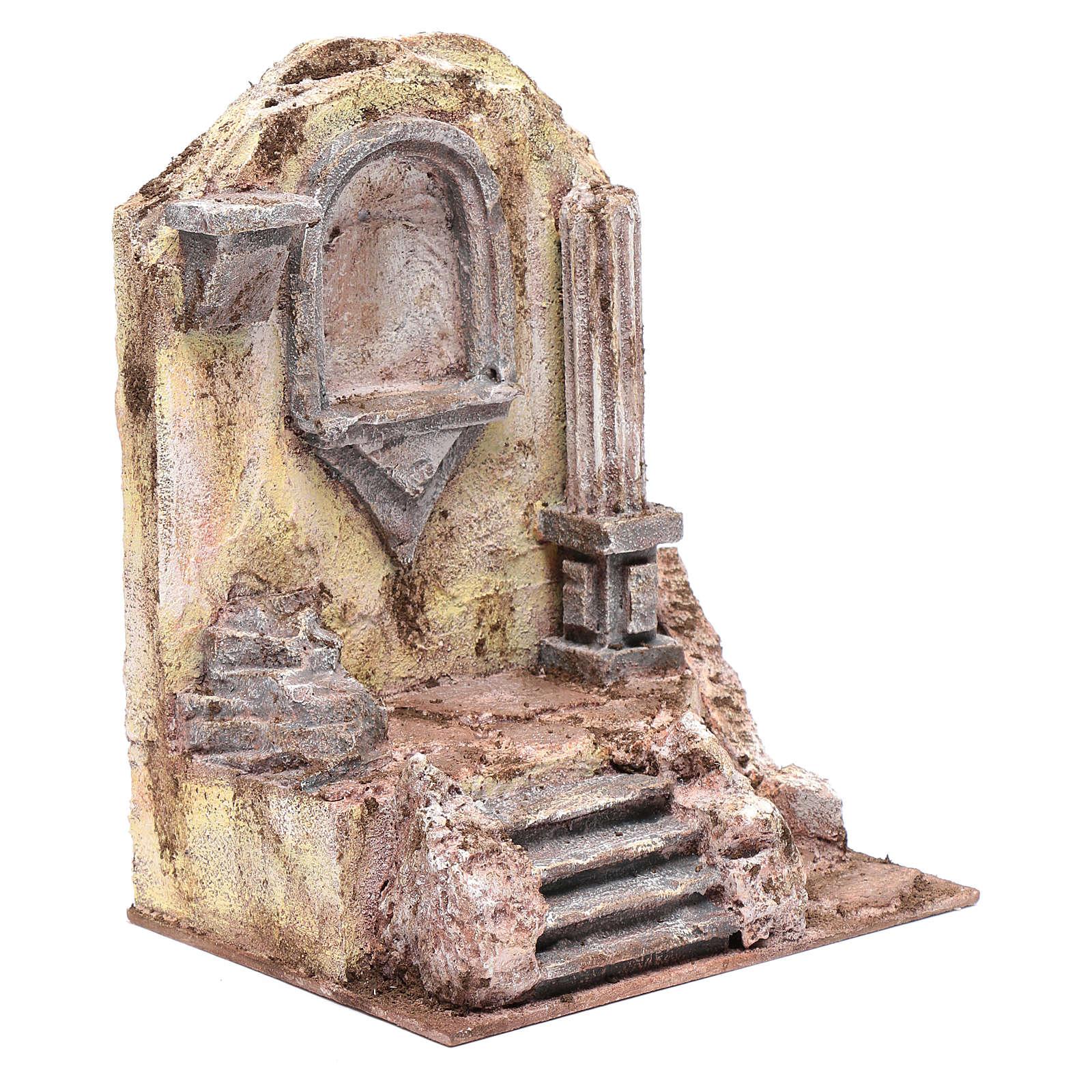 Rovine del tempio e nicchia 25x19,5x14,5 cm 4