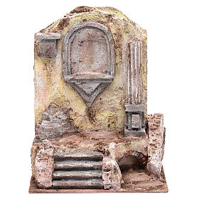 Rovine del tempio e nicchia 25x19,5x14,5 cm s1