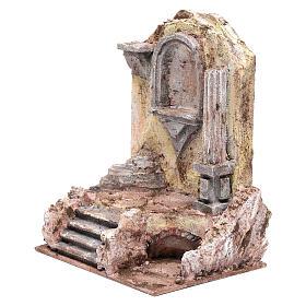 Rovine del tempio e nicchia 25x19,5x14,5 cm s2