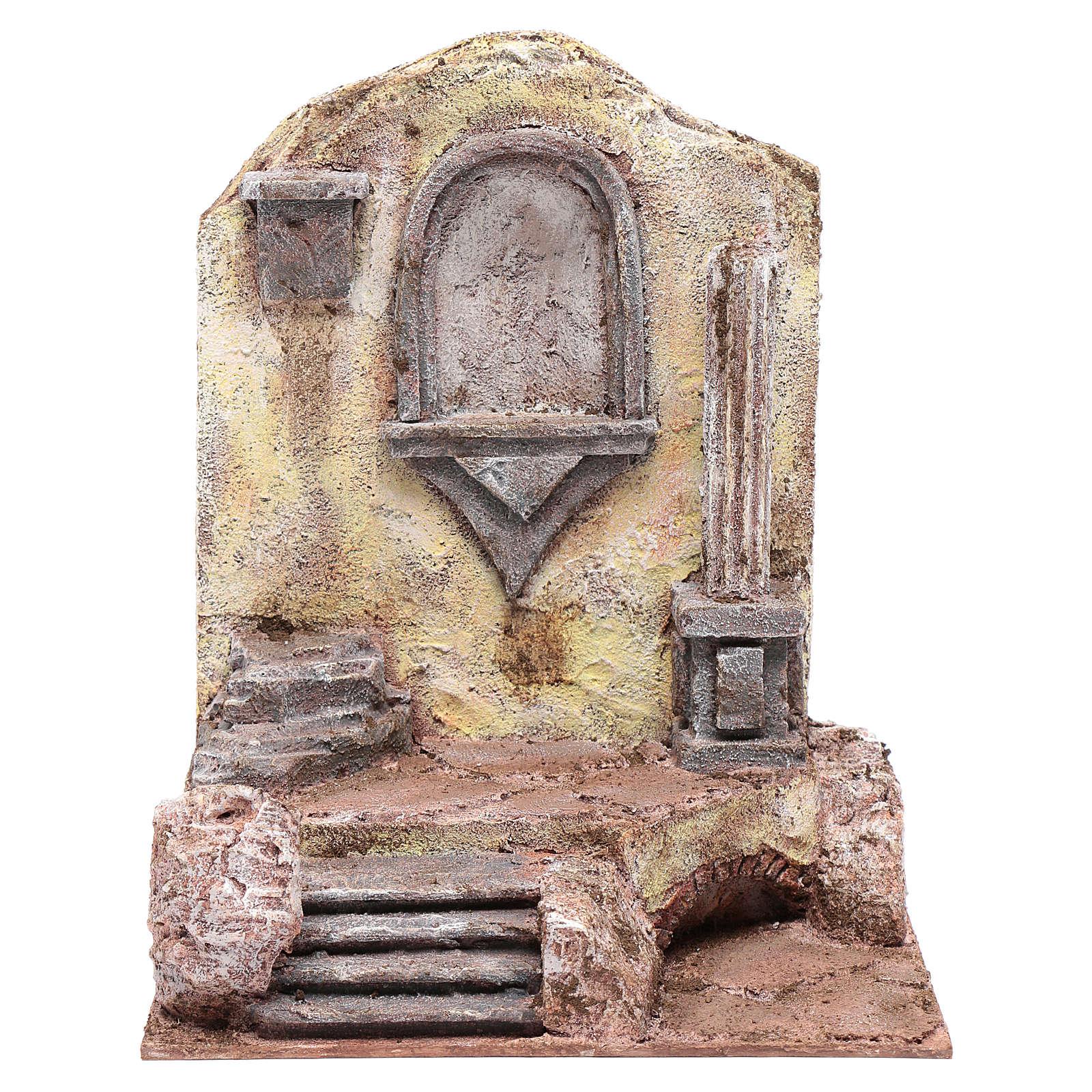 Ruines temple avec niche 29,5x24x18 cm 4